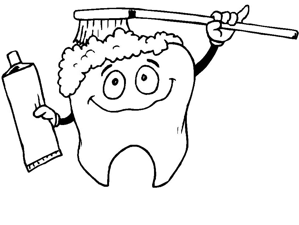 dental hygiene coloring pages for kids