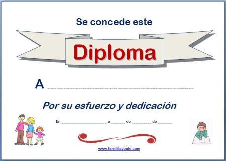 Diploma para imprimir